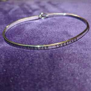 "Jewelry - Brass Engraved Bracelet ""Forever Together"""